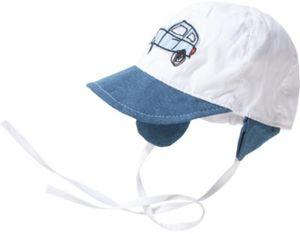 Baby Schirmmütze zum Binden Gr. 44 Jungen Kinder
