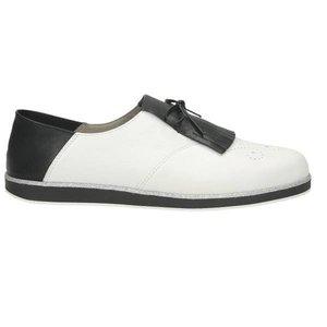Damen Slipper, weiß - kombiniert