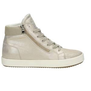 Damen High Top Sneaker, beige - kombiniert