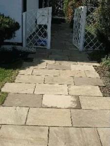 TrendLine Sandstein-Terrassenplatten ,  30x60x2-4 cm, braun-beige
