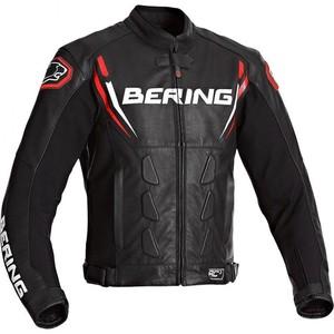 Bering            Sting-R Leder Motorradjacke schwarz/rot L