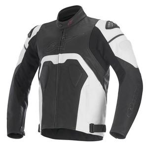 Alpinestars            Core Lederjacke schwarz/weiß