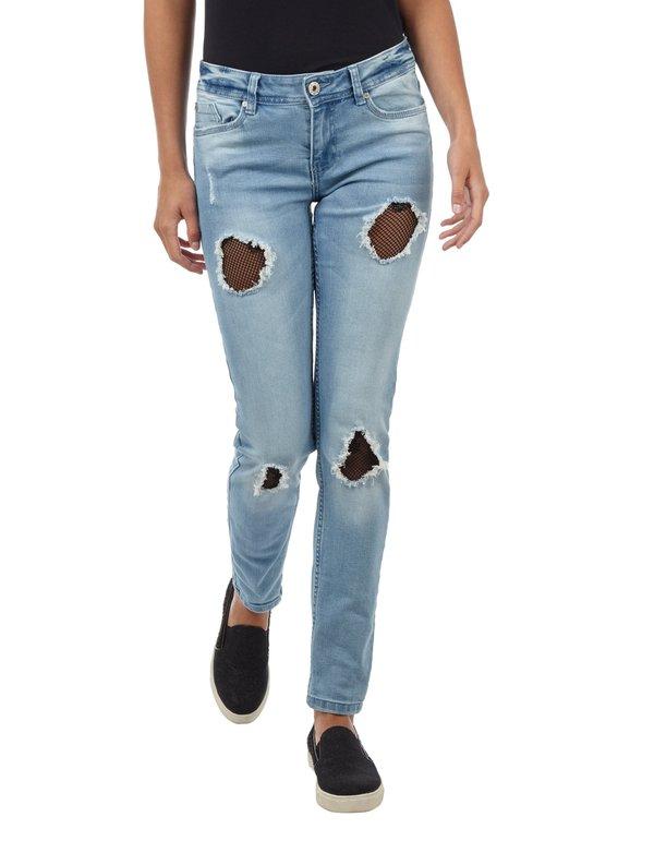 e9b380be9cc8e0 Damen Skinny Fit Jeans im Destroyed Look von Takko Fashion ansehen ...