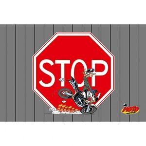 "Motomania            Fußmatte ""STOP"""