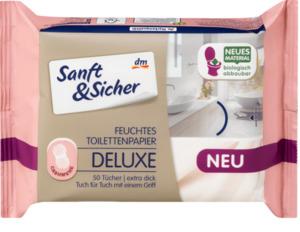 Sanft&Sicher feuchtes Toiliettenpapier Deluxe Cashmere