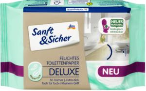 Sanft&Sicher feuchtes Toilettenpapier Deluxe Sensitive