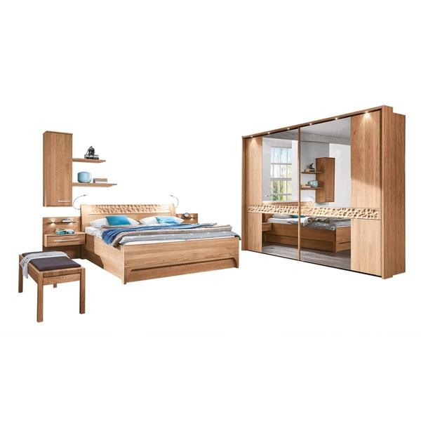 MONDO Schlafzimmer PAOLO Eiche Natur teilmassiv Nachbildung