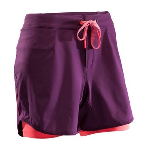 ROCKRIDER Kurze Radhose MTB-Shorts ST 500 Damen Pflaume/rosa, Größe: XS