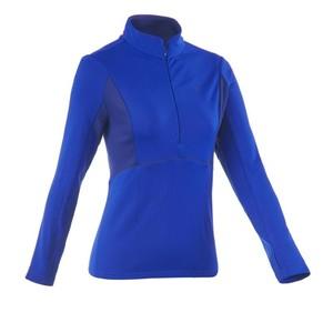 QUECHUA Langarmshirt SH500 Active Warm Damen blau, Größe: L
