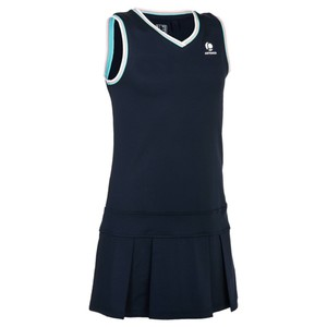ARTENGO Tenniskleid 500 Kinder marineblau, Größe: 10 J. - Gr. 140