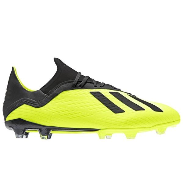 ADIDAS Fußballschuhe Nocken X 18.2 FG Erwachsene gelb, Größe: 41 1/3