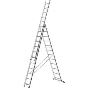 Hymer Mehrzweckleiter dreiteilig 3 x 12 Sprossen Arbeitshöhe 8,21 m