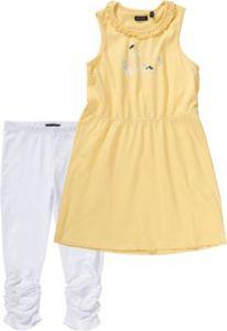Kinder Set Jerseykleid + Caprileggings Gr. 110 Mädchen Kinder