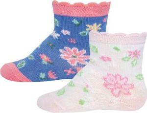 Baby Socken Doppelpack , Blümchen Gr. 27-30 Mädchen Kinder