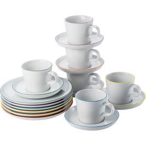 Arzberg Porzellan-Kaffee-Set Cucina Colori, 18-teilig