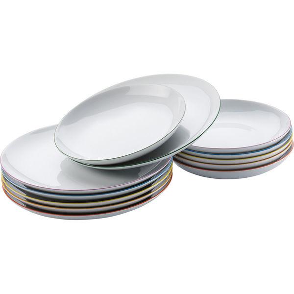 Arzberg Porzellan-Tafel-Set Cucina Colori, 12-teilig