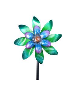 Dehner Metall-Windrad, blau-türkis