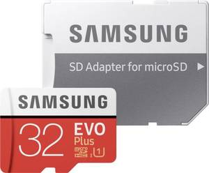 Samsung EVO Plus microSDHC-Karte 32 GB Class 10, UHS-I inkl. SD-Adapter