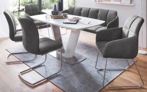 MCA furniture - Bankgruppe Tessera/Vanita in grau und weiß