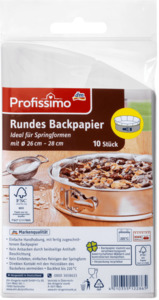 Profissimo Rundes Backpapier