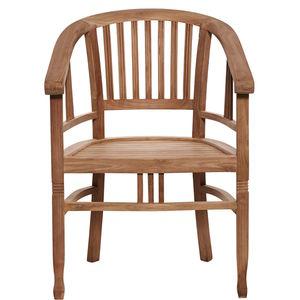 Stuhl mit runder Armlehne