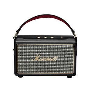 "Marshall Kilburn (schwarz) - Tragbarer Bluetooth Lautsprecher (Vintage-Design, Bluetooth 4.0, 20 Std. Akku, 4"" Basswoofer)"