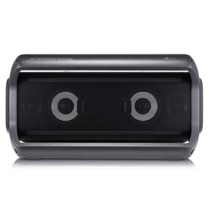 LG PK7, Schwarz - Bluetooth-Lautsprecher (40W, Outdoor, IPX5, Sprachsteuerung, Meridian Audio)