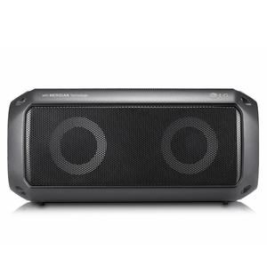 LG PK3, Schwarz - Bluetooth-Lautsprecher (16W, Outdoor, IPX7, Meridian Audio)