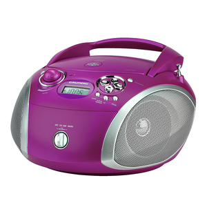 Grundig GRB 2000 USB - Purple/Silber [Radio mit CD-Player]