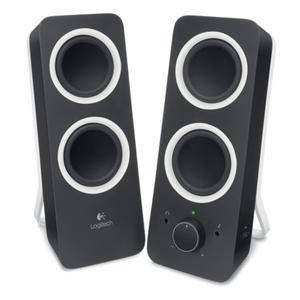 Logitech Z200 Lautsprechersystem, satter Stereoklang, 3.5mm-Audioausgang, schwarz