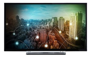 Toshiba 24 D3763 DA - 61 cm (24 Zoll) Fernseher (HD ready, Smart TV, WLAN, Triple Tuner (DVB T2), DVD Player, USB)