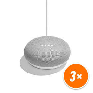 Google Home Mini (Sprachgesteuerter Lautsprecher mit Google Assistant) rock candy/chalk [3er Pack]