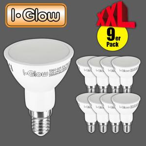 I-Glow LED-Leuchtmittel 9er JDR E14 warmweiß
