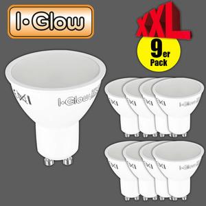 I-Glow LED-Leuchtmittel 9er GU10 tageslichtweiß