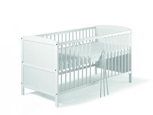 Schardt Conny Kombi-Kinderbett 70x140 cm, Kiefer massiv, weiß lackiert