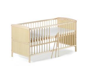 Schardt Conny Kombi-Kinderbett 70x140 cm, Kiefer massiv, natur lackiert
