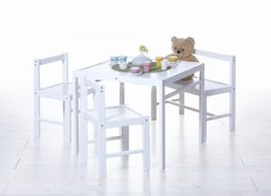 Ticaa Kinder Tischgruppe 4-teilig Natur