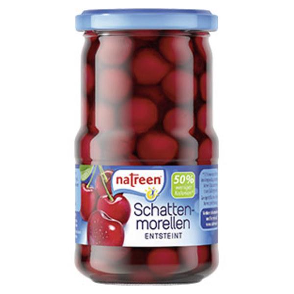 Natreen Konfitüre Erdbeer oder -Schattenmorellen  und weitere Sorten, jedes 225-g-Glas/ jedes 370-ml-Glas/ 185-g-Abtropfgewicht
