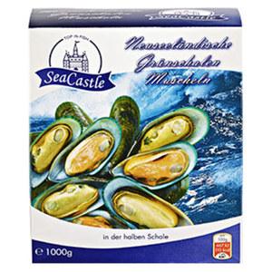 Grünschal-Muscheln * * * gefroren, jede 1000-g-Schale Füllgewicht
