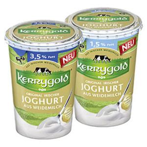 Original Irischer  Joghurt aus Weidemilch Natur, 1,5/3,5 % Fett,  jeder 400-g-Becher