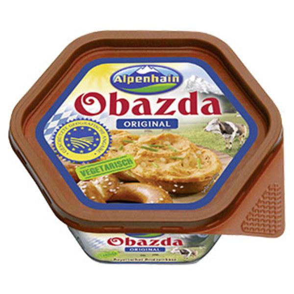 Alpenhain Obazda Bayrischer Biergartenkäse 50 % Fett i. Tr., jede 125-g-Packung