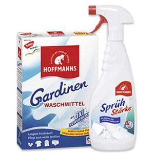 Hoffmanns Gardinen-Waschmittel 660 + 10 % gratis, Wäsche-Steife 500 ml oder Sprühstärke 500 ml, jede Packung/Flasche/Dose