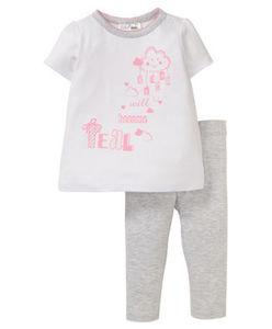 Ergee - T-Shirt + Leggings - Wolke, meliert - 2-tlg. Set