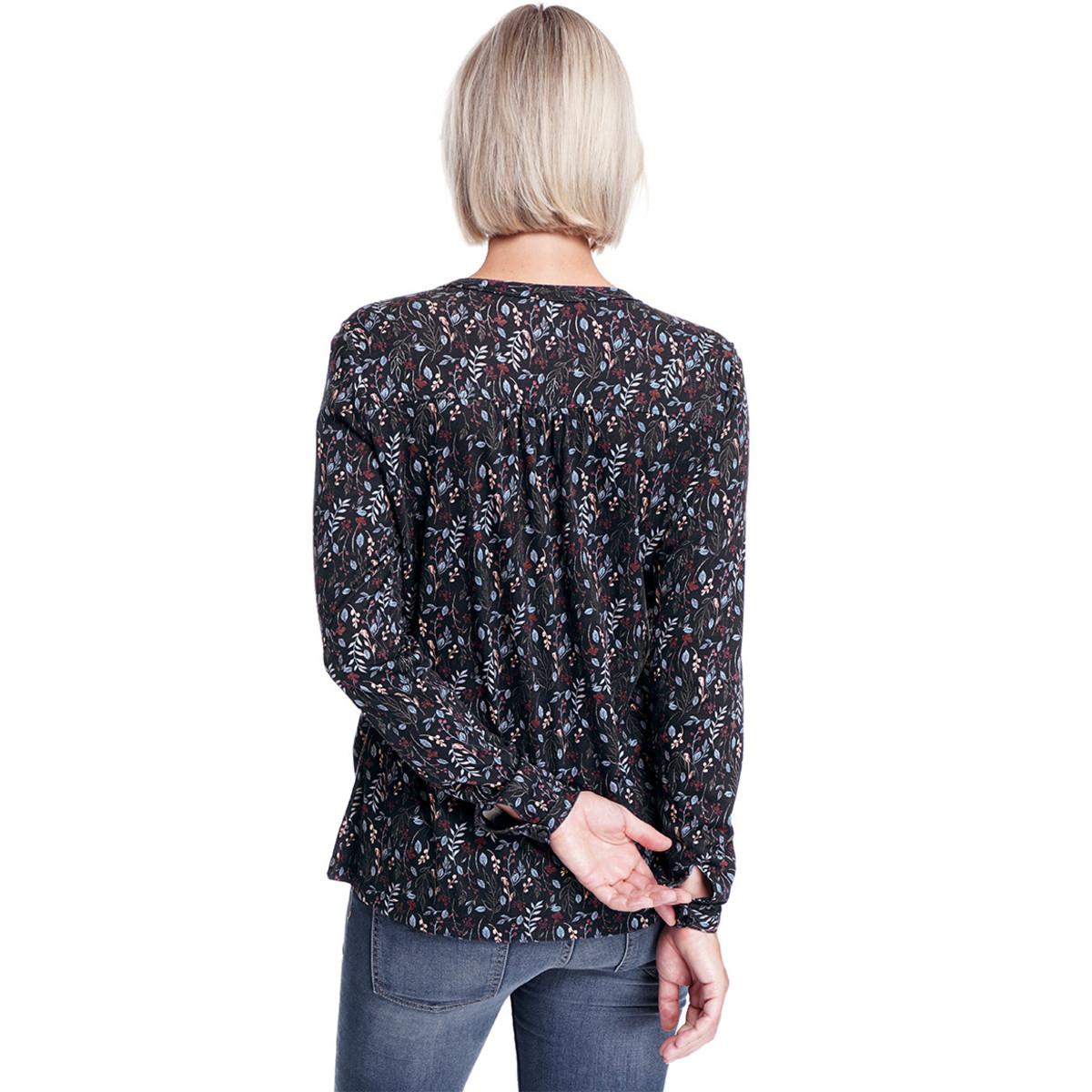 Bild 4 von Damen Umstands-Blusenshirt mit Allover-Print