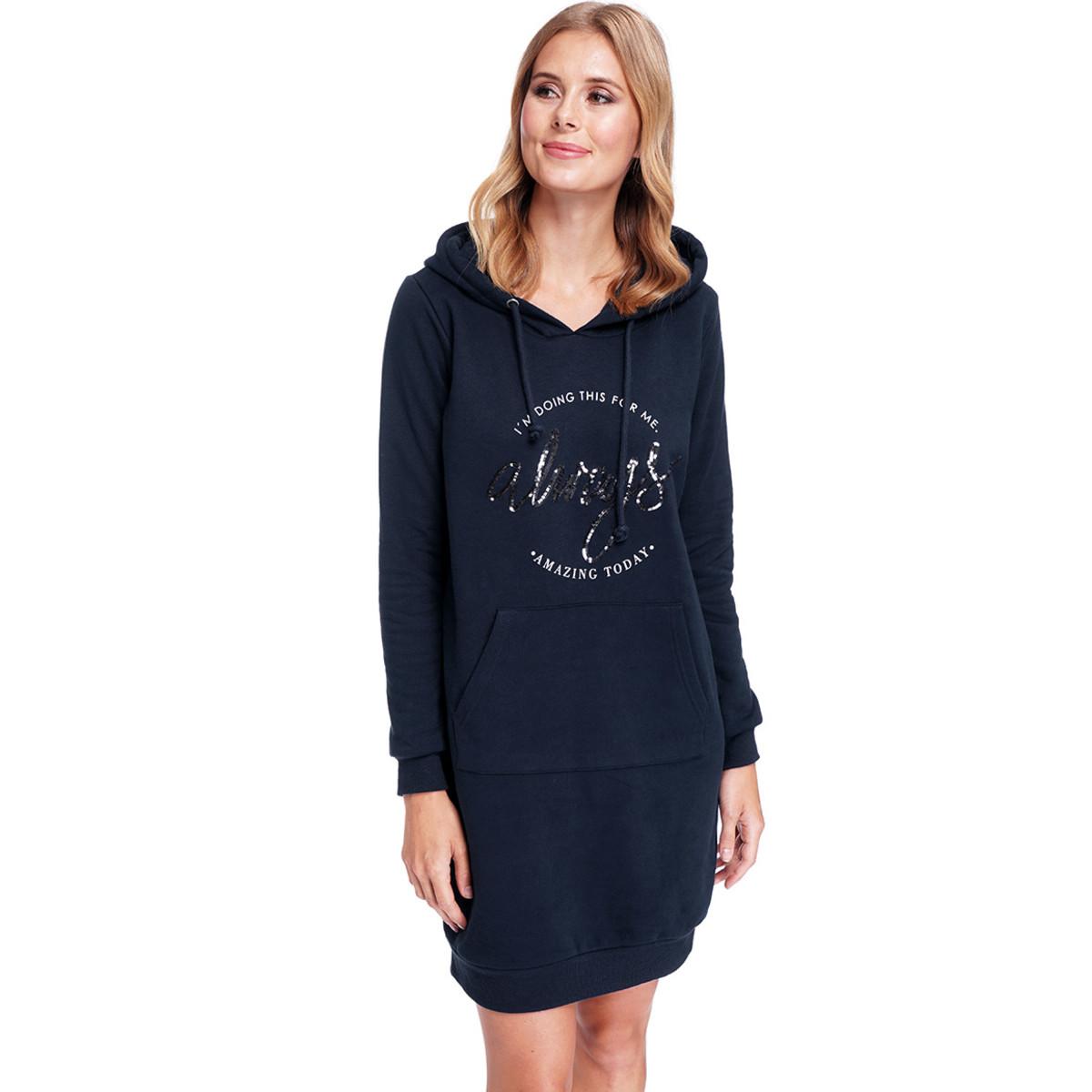 Bild 2 von Damen Sweatkleid mit Kapuze