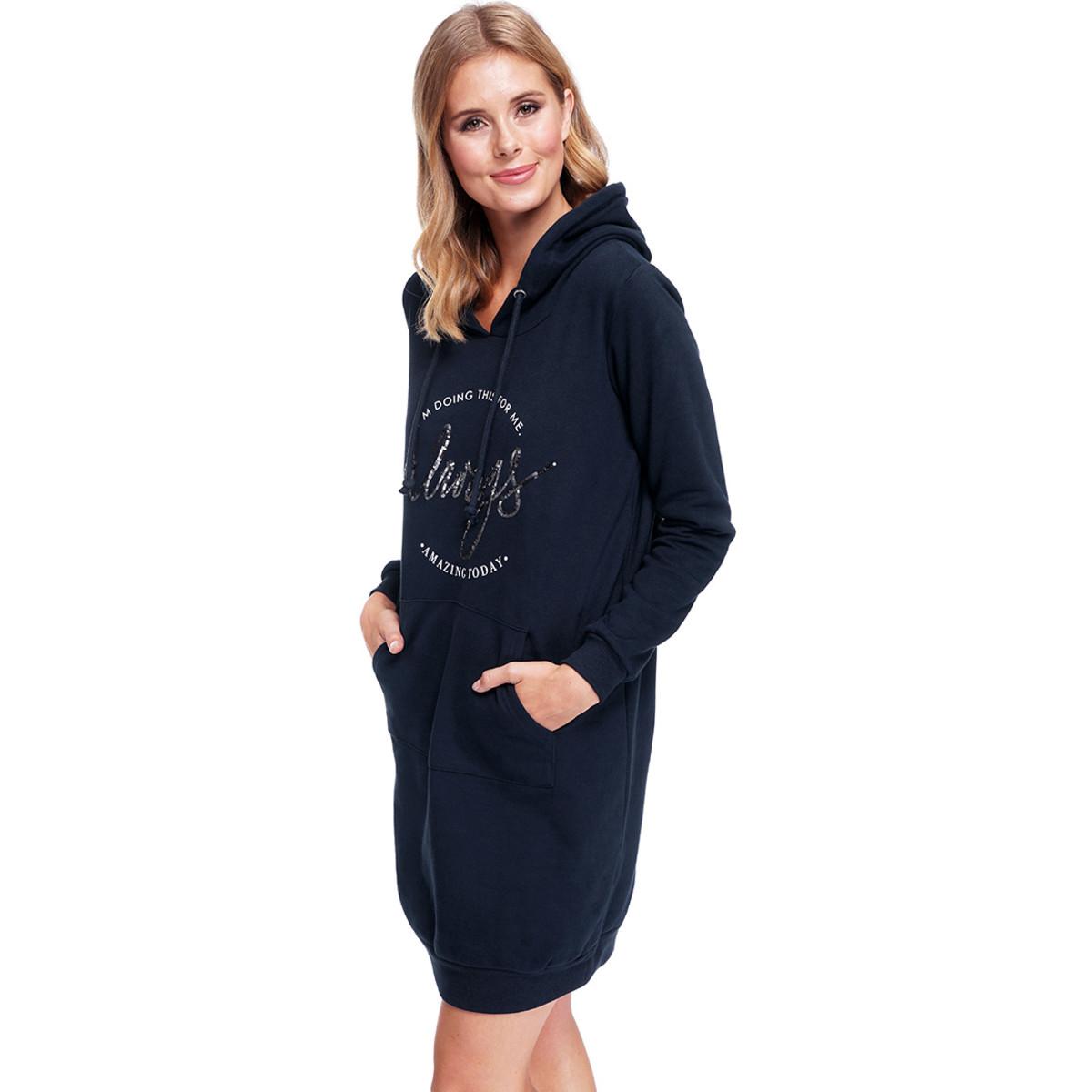Bild 3 von Damen Sweatkleid mit Kapuze