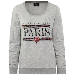 Damen Sweatshirt mit Perlen-Applikation