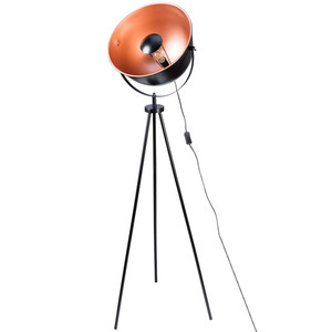 Stehlampe mit Metallschirm