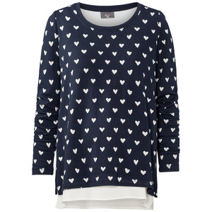 Damen Umstands-Sweatshirt im Layer-Look