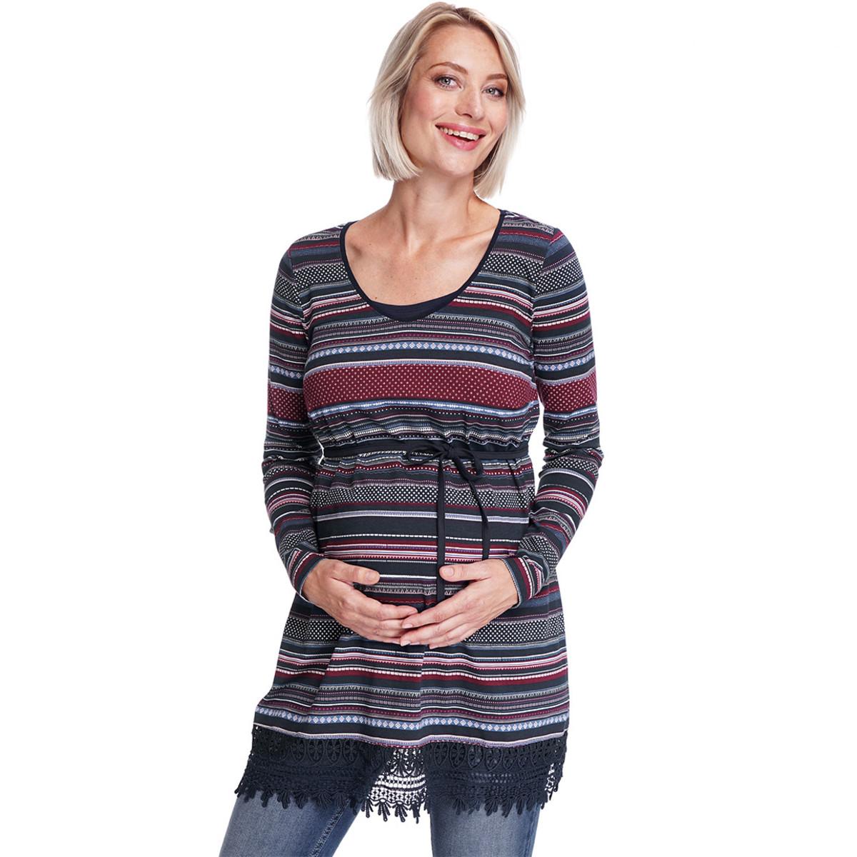 Bild 2 von Damen Umstands-Longshirt mit Allover-Print